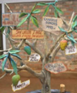In the courtyard of the Trade School in Kisubi, a mango tree illustrates the gratitude of Ugandans to those donors who have given generously and regularly to support the children.