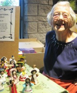 Jan Sheridan selling dolls for CANHAVE's AIDS orphans