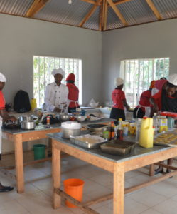 Cooking and catering class